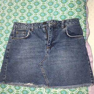 BDG dark blue denim skirt